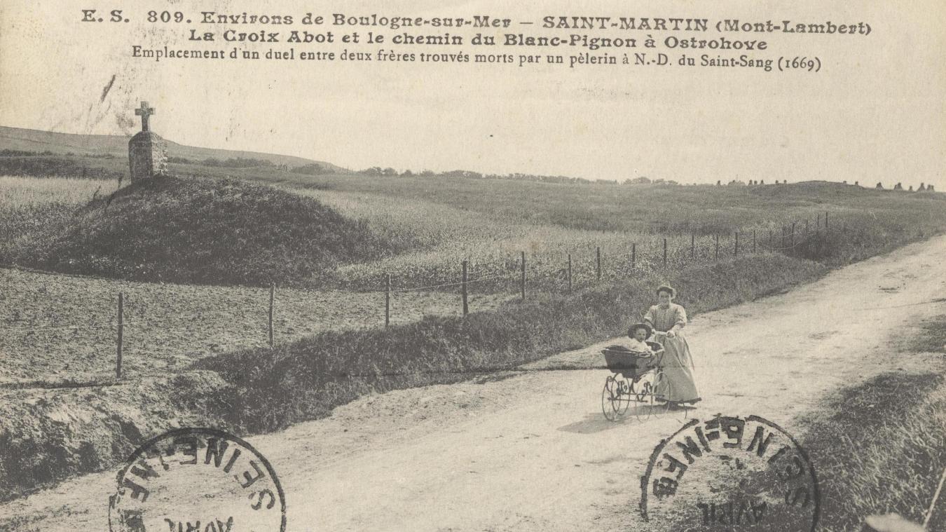 La Croix Abot et le chemin du Blanc-Pignon.