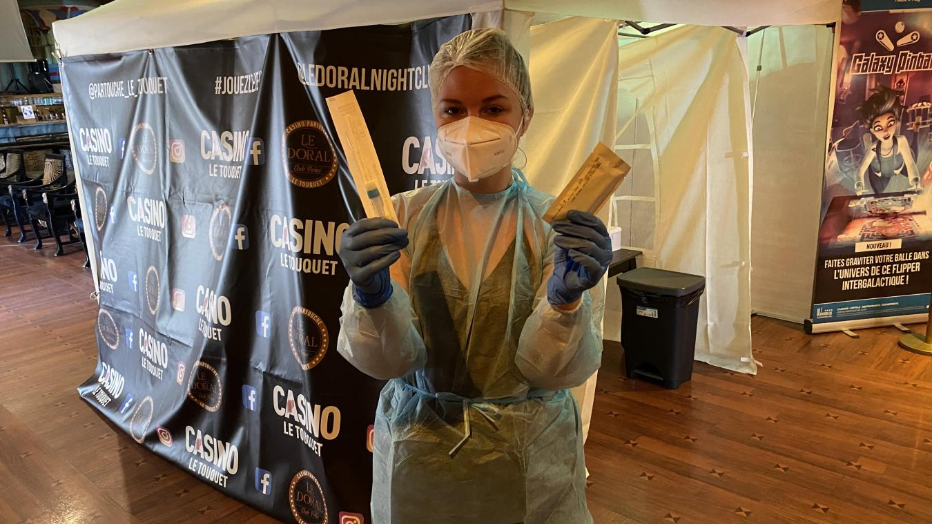 Les tests antigéniques se font à l'étage du casino Partouche.