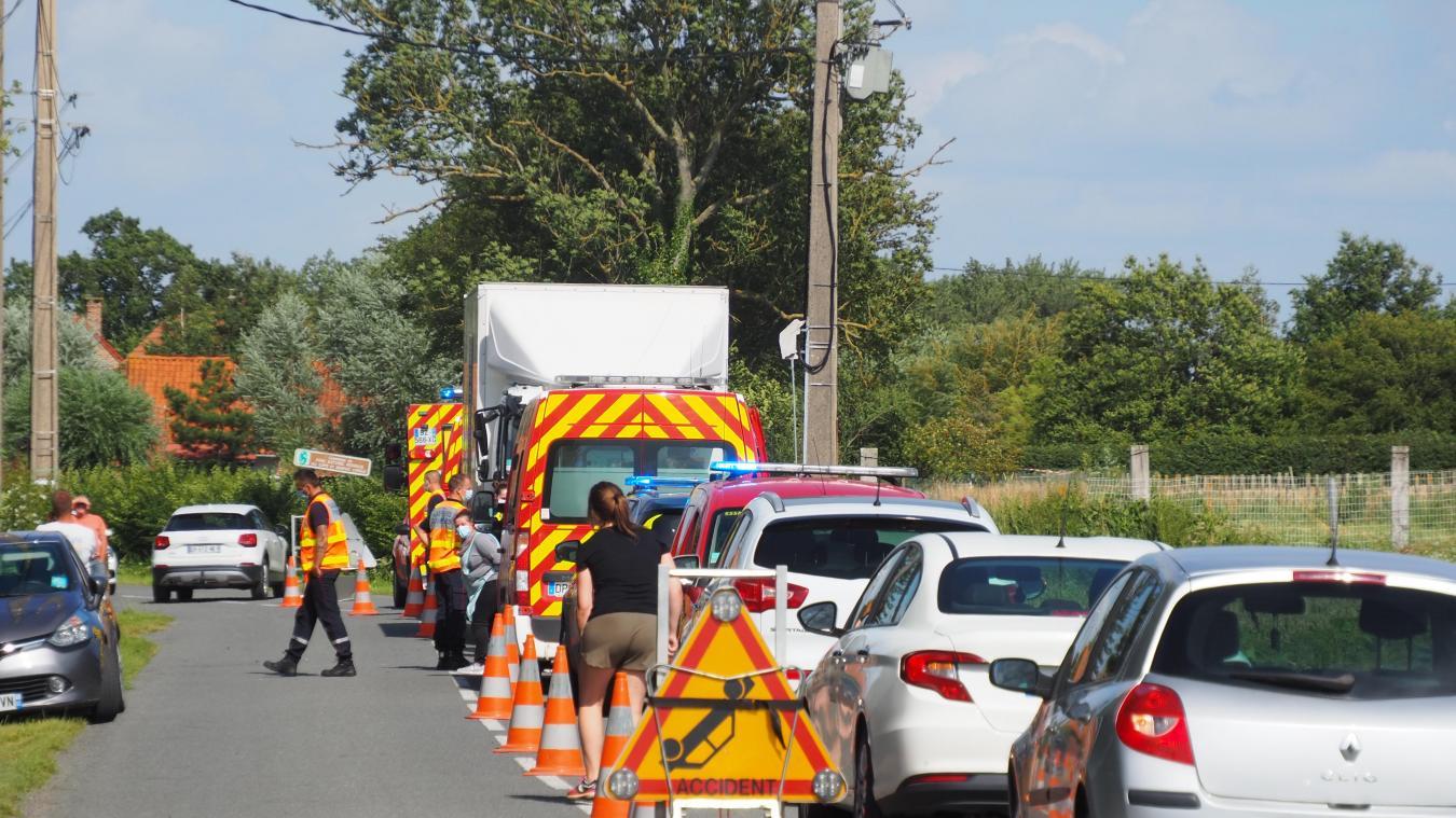 L'accident s'est produit ce jeudi après-midi à Eperlecques.