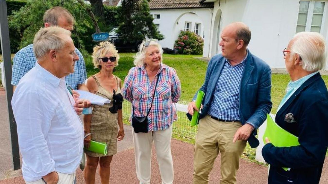 La visite du quartier de l'Atlantique s'est déroulée vendredi 23 juillet.