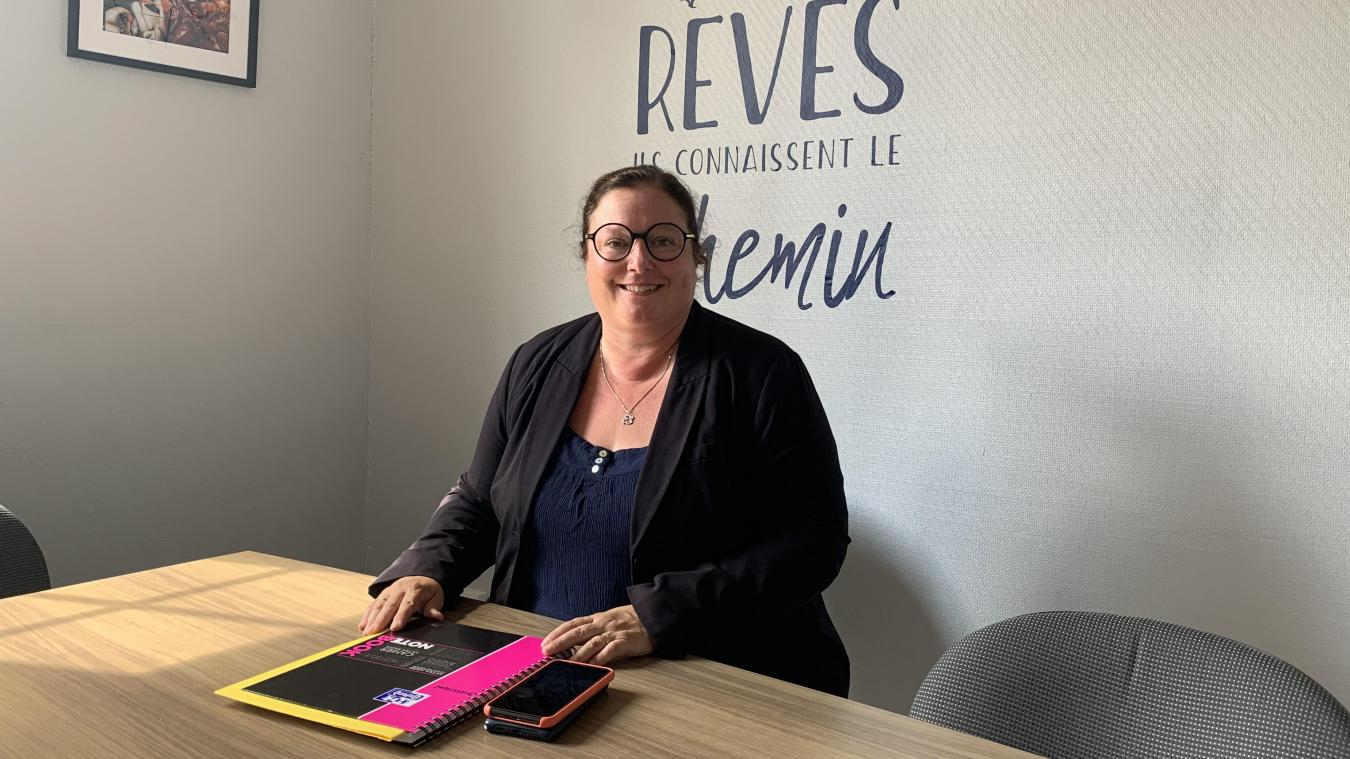 Comme Cathy Flahaut, 600 élèves feront leur rentrée cette semaine au lycée Saint-Jacques d'Hazebrouck.