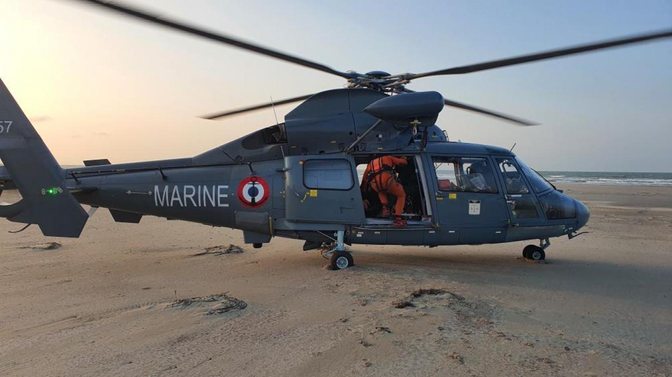 La victime a été héliportée vers le Centre hospitalier de Dunkerque.