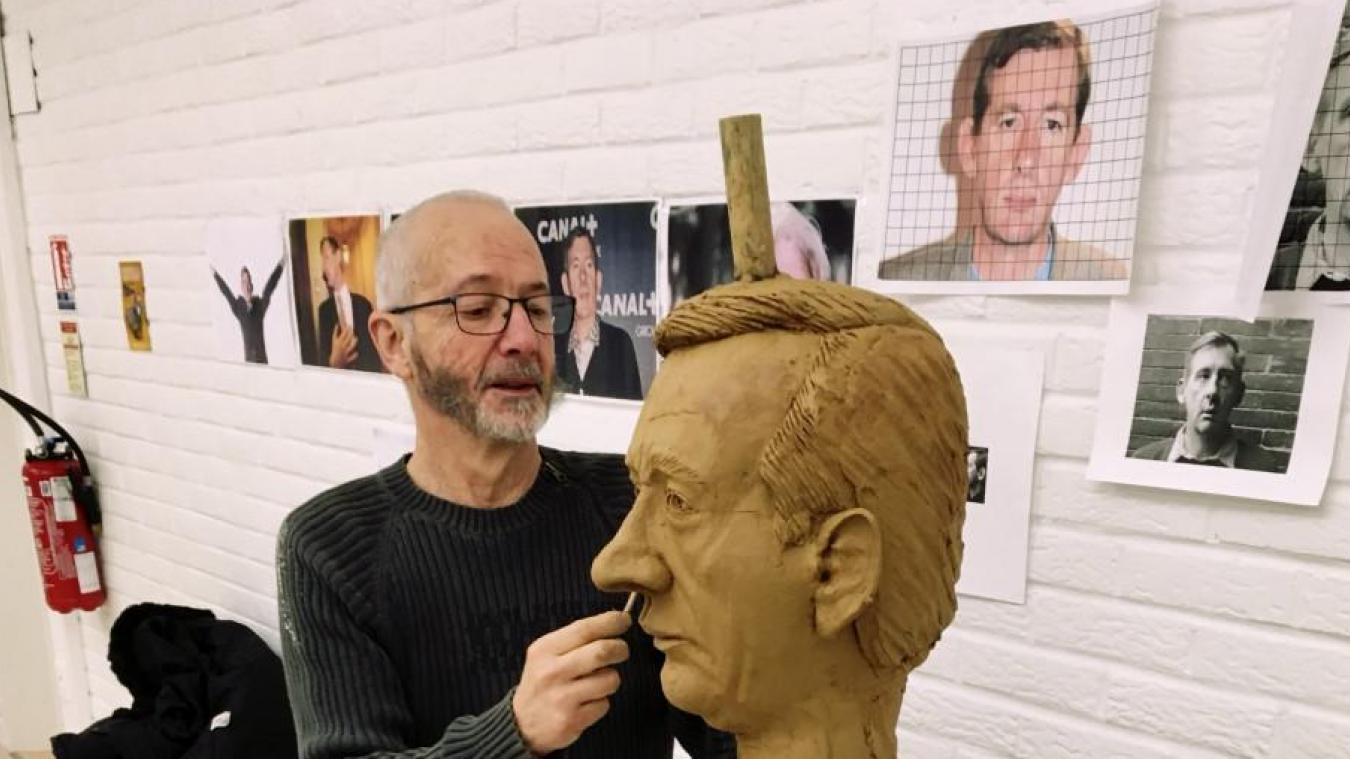 Denis Prigent a façonné le visage de la statue pour qu'elle soit la plus ressemblante à Christophe Salengro.