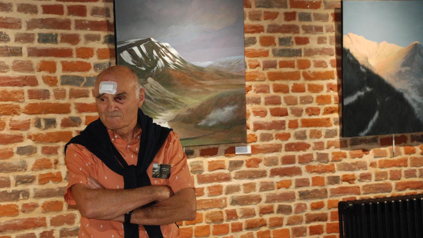 Alain Dimpre, un artiste qui fait preuve de rigueur.