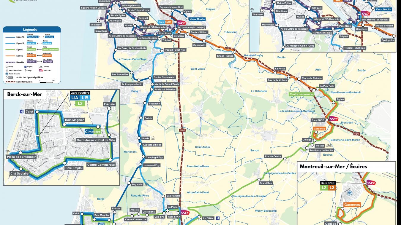 Une nouvelle ligne régulière fait son apparition entre Étaples et Montreuil pour desservir tout le territoire de l'agglomération. grâce aussi à 7 lignes à la demande pour les villages excentrés.