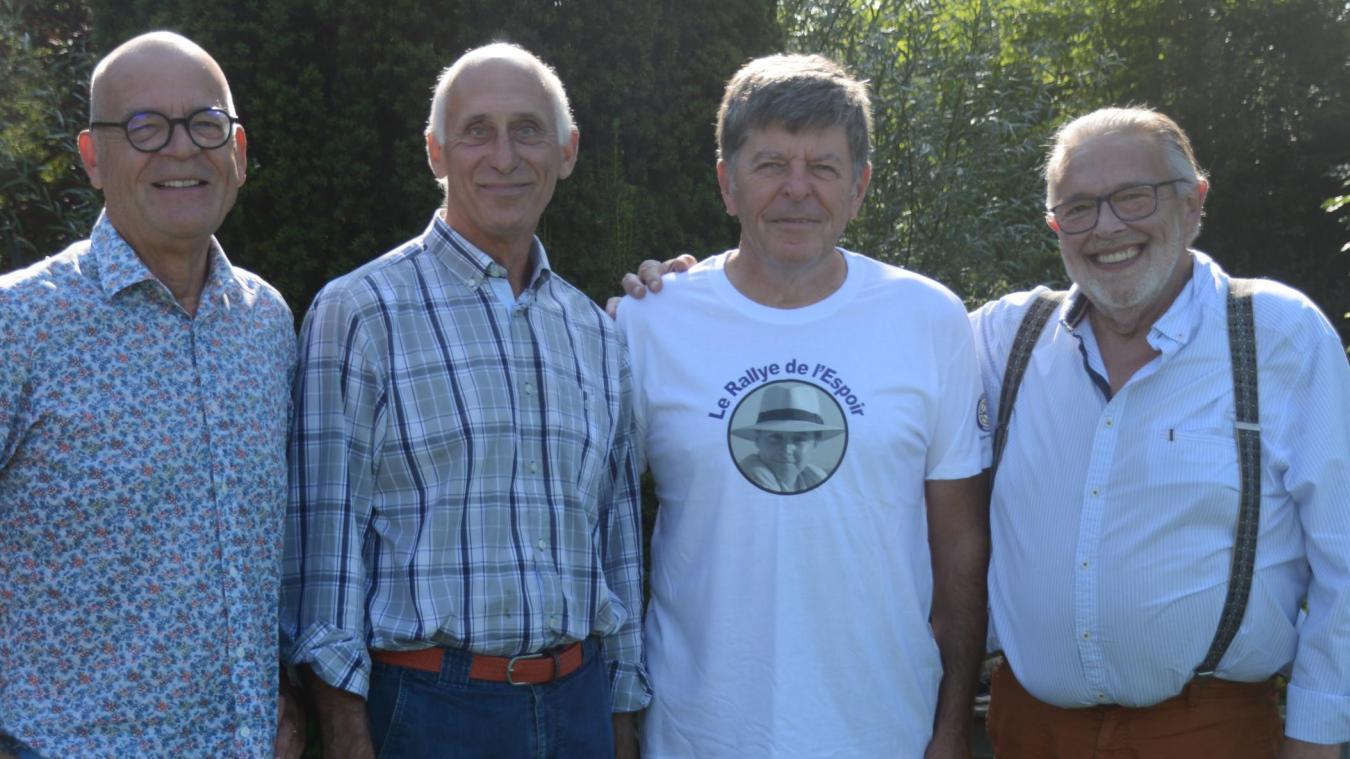 Eric Marchyllie, Luc Debuquois, Jean-Pierre Duval et Philippe Venet sont membres du Club 41 d'Aire-sur-la-Lys.