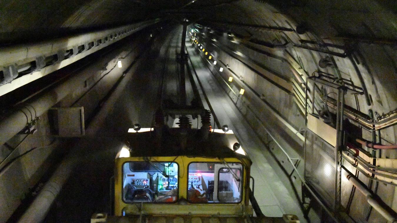 Le réseaux Eleclink relie la France au Royaume-Uni à travers le Tunnel sous la Manche.  Archives Michel de Smedt