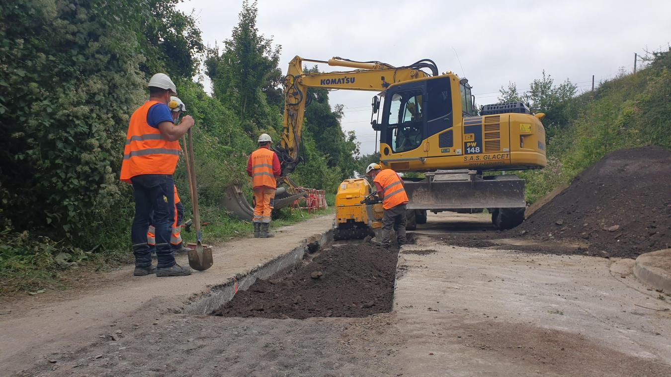 3 km de réseau sont en train d'être réalisés entre Roclincourt et Saint-Laurent-Blangy.