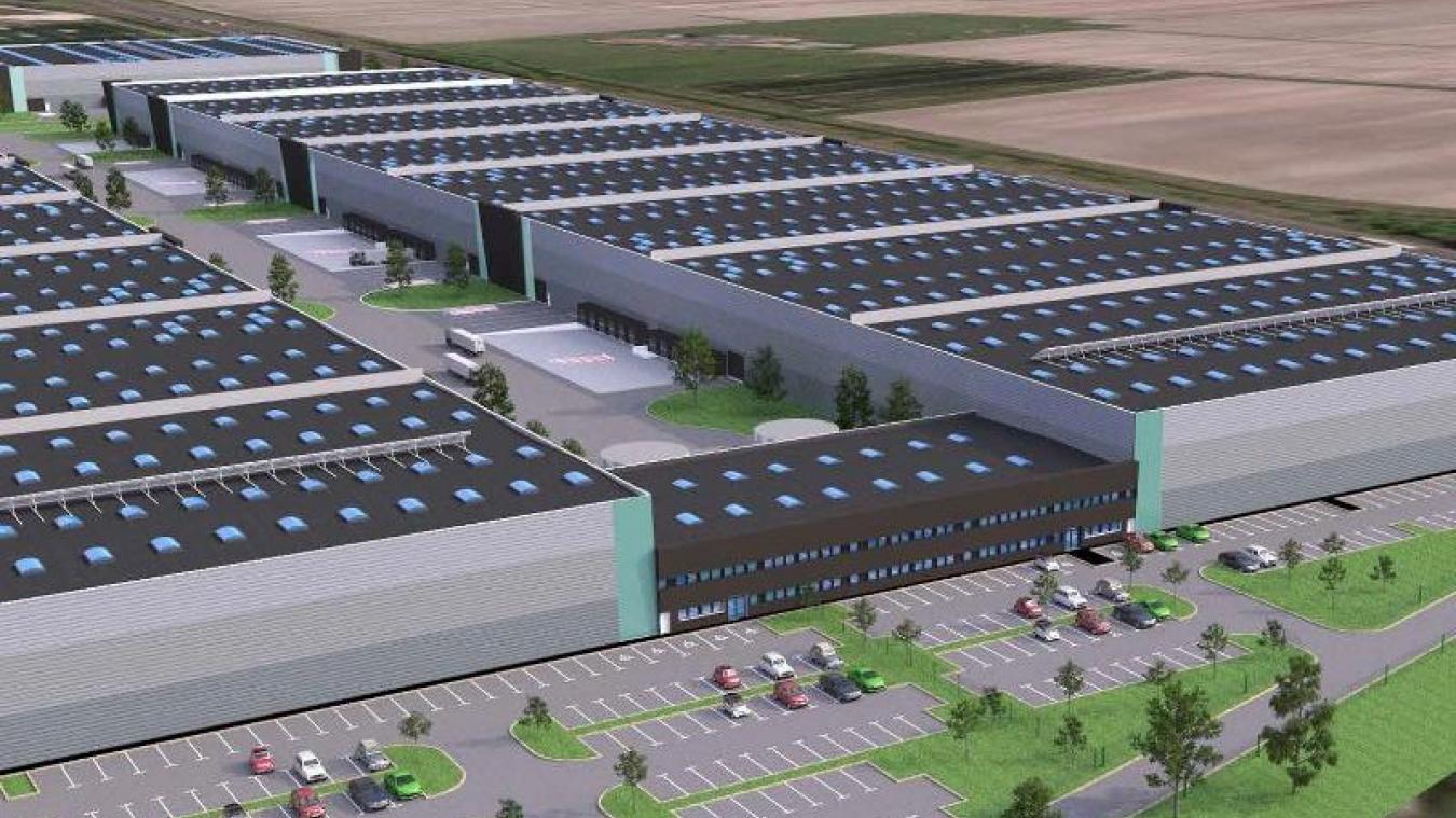 La société Calais Log Invest veut construire un entrepôt de près de 100 000 m² zone de la Turquerie à Calais. (Photo : Calais Log Invest).