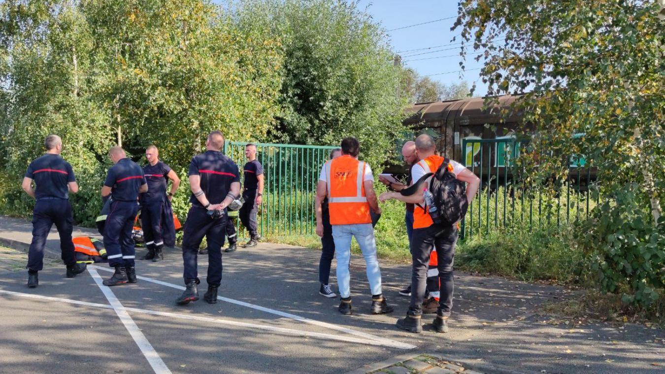 Les équipes SNCF et les secours étaient sur place.