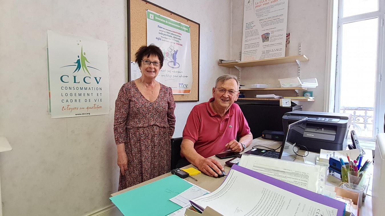 Geneviève Deloget et Daniel Mailliet, bénévoles de l'antenne du boulonnais de la CLV.