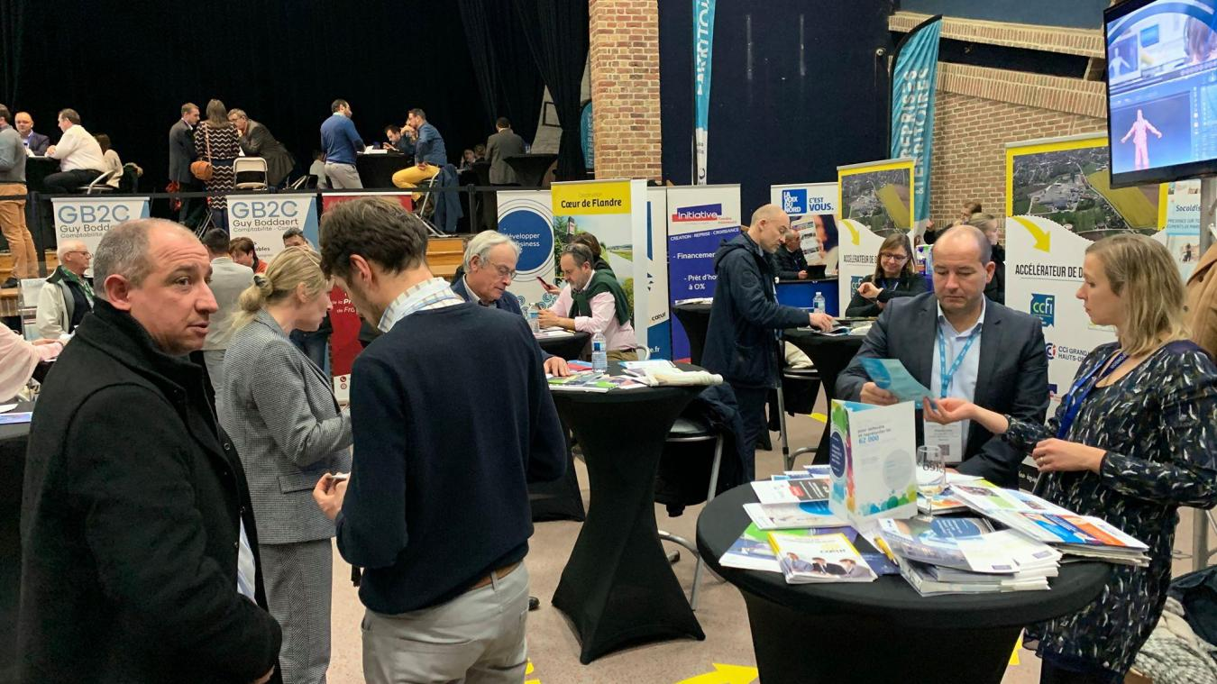 La salle des fêtes de Bailleul a fait le plein d'exposants et de visiteurs en novembre 2019. Ce salon est l'occasion de mettre en valeur les entreprises de Flandre.