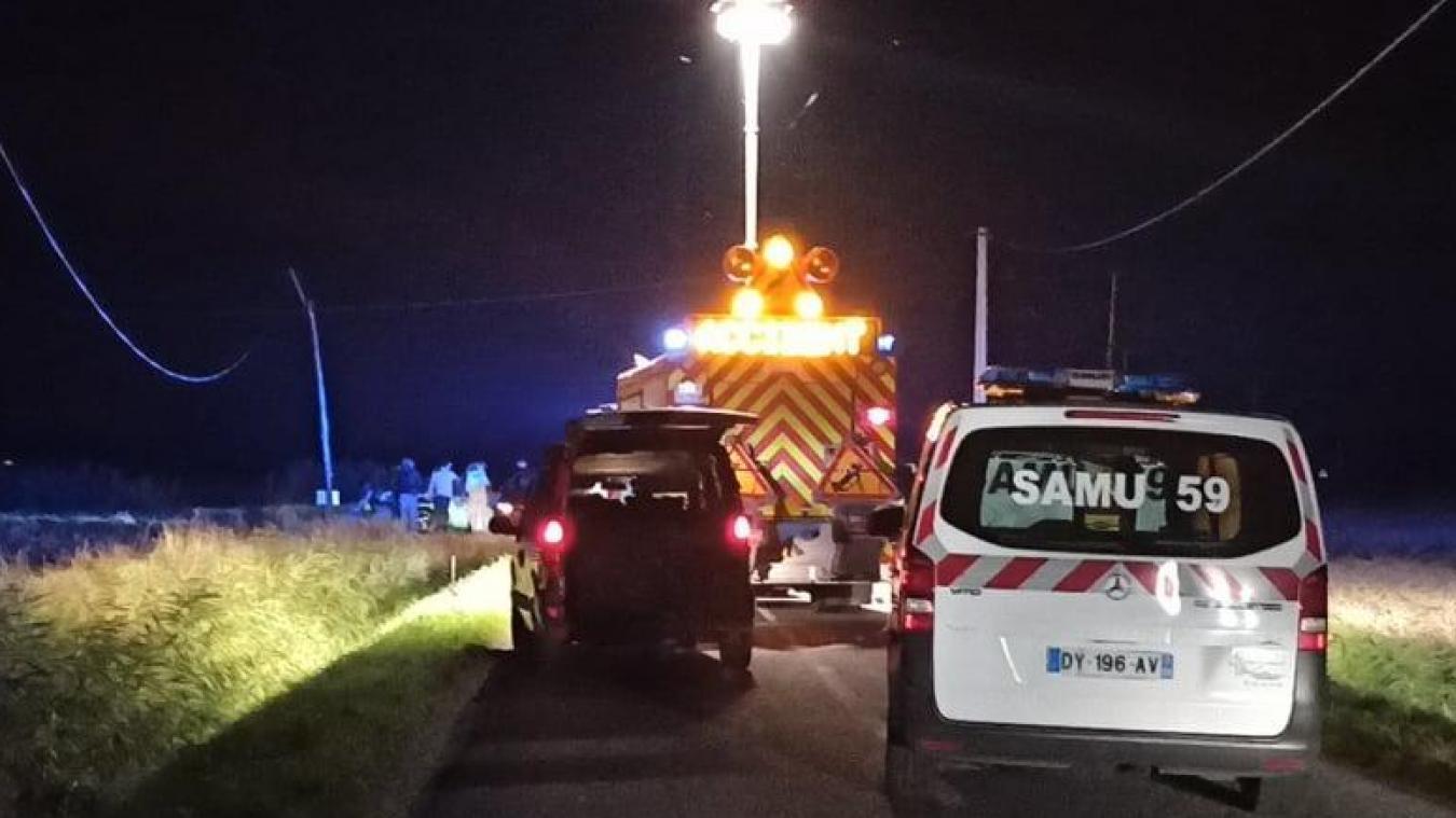 Le motard a été retrouvé inanimé route de Bourbourg à Saint-Pierrebrouck.