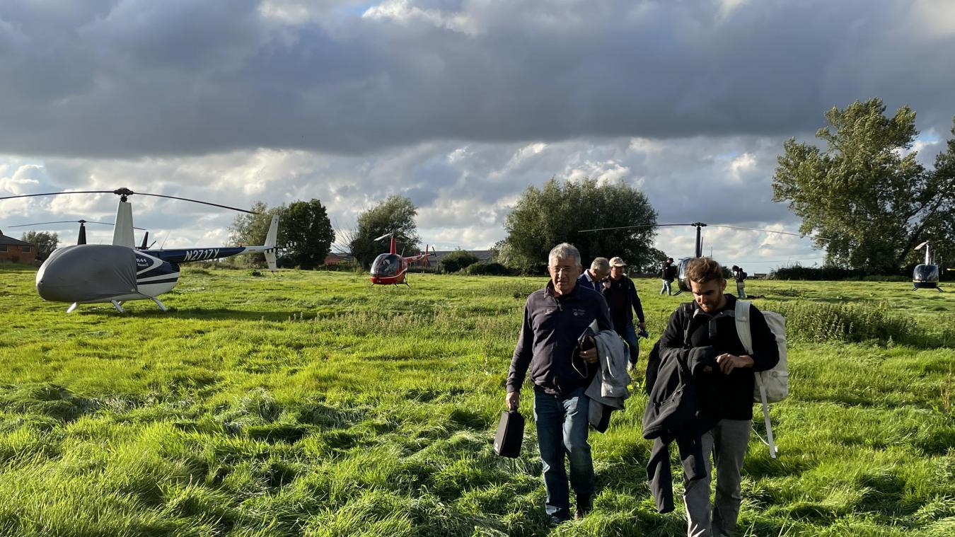Les premiers hélicoptères sont arrivés vers 17 h 45 vendredi 10 septembre, à l'Hostellerie Saint-Louis.