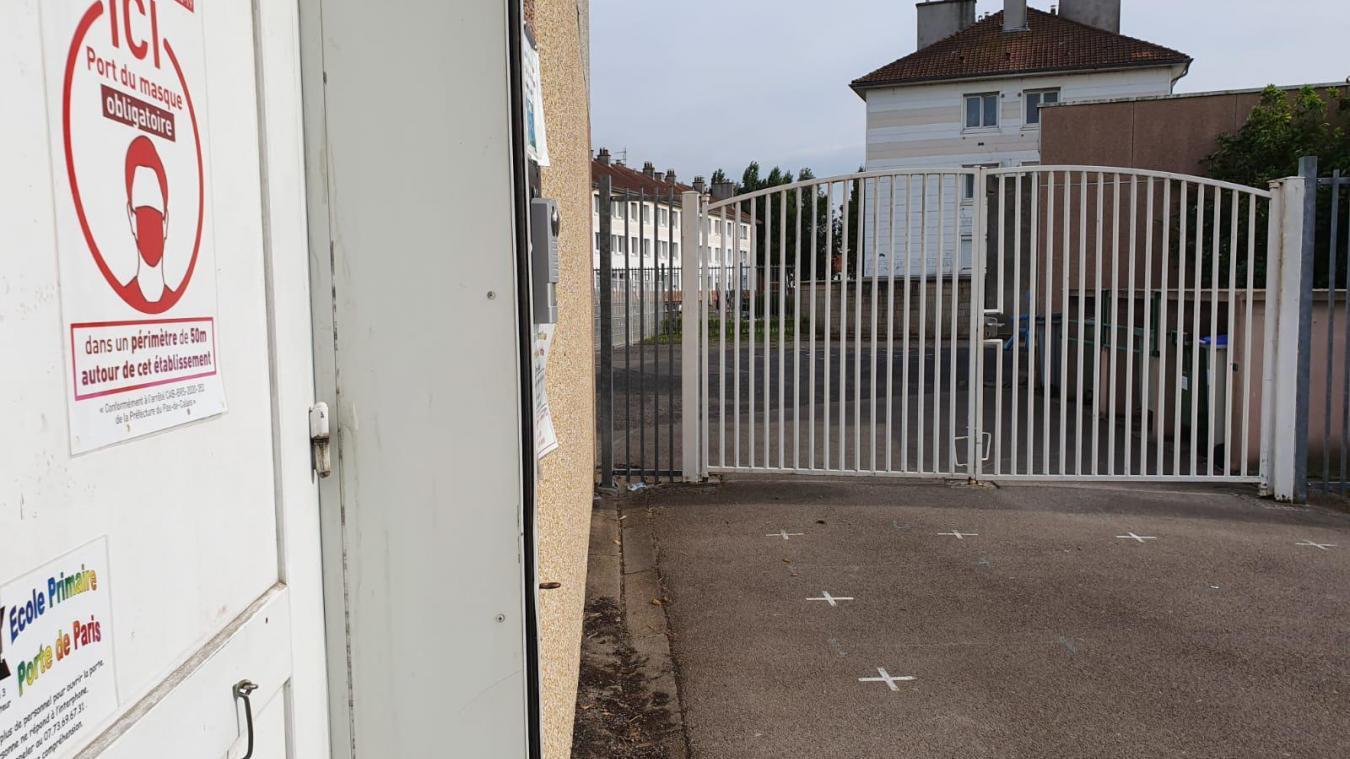L'école Porte de Paris est aussi concernée par des fermetures.