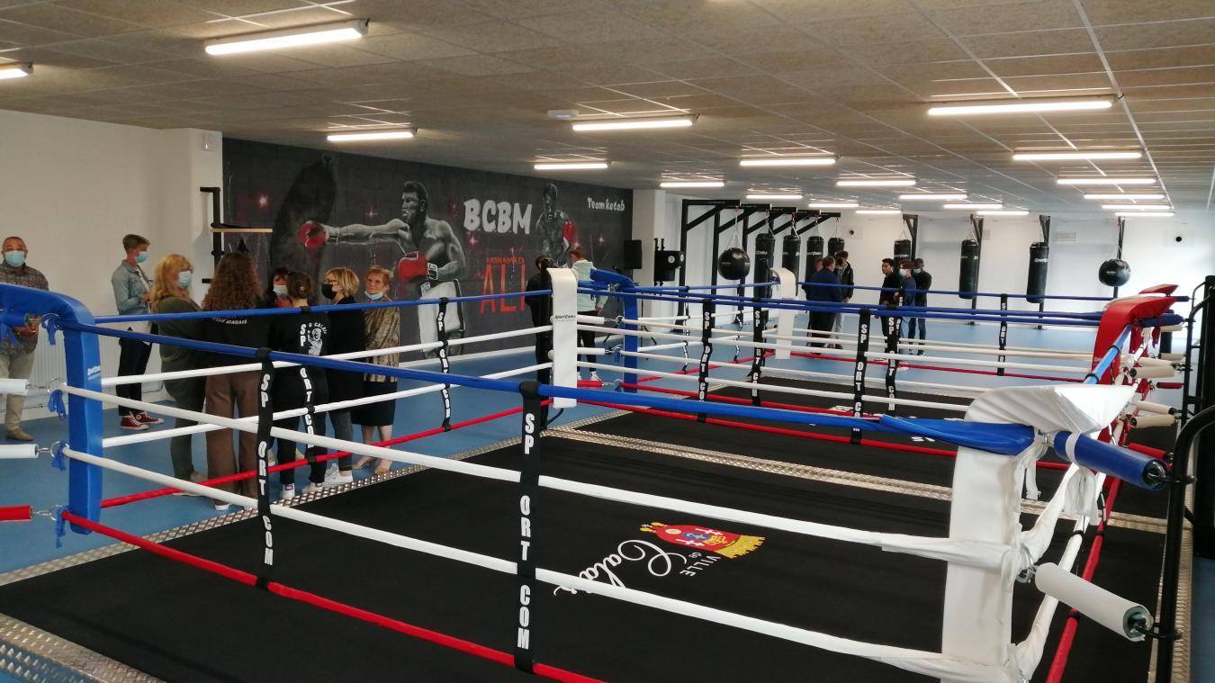 La nouvelle salle de boxe du club fait 500 mètres carrés au total.