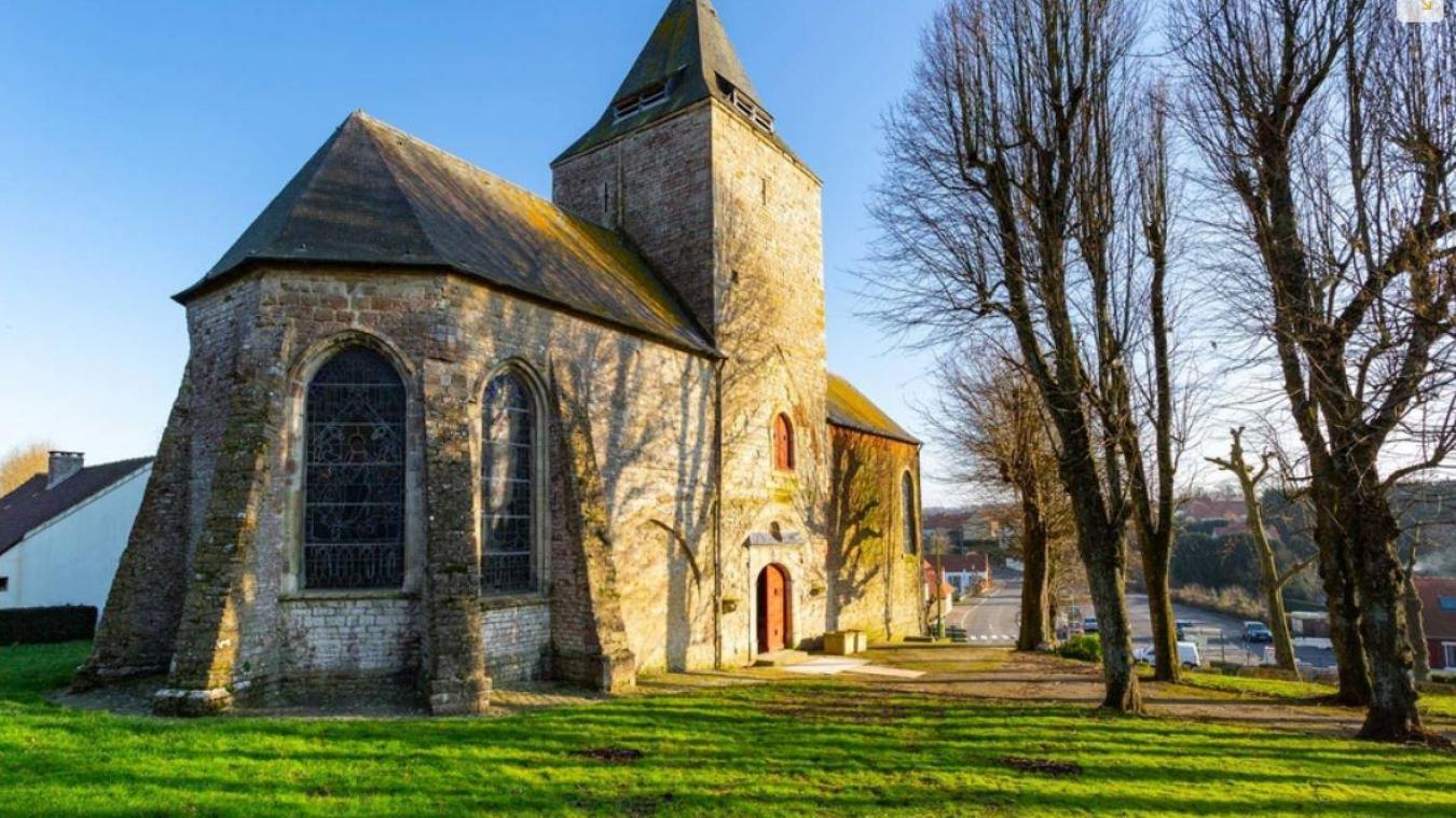 L'église Saint-Martin de Réty.