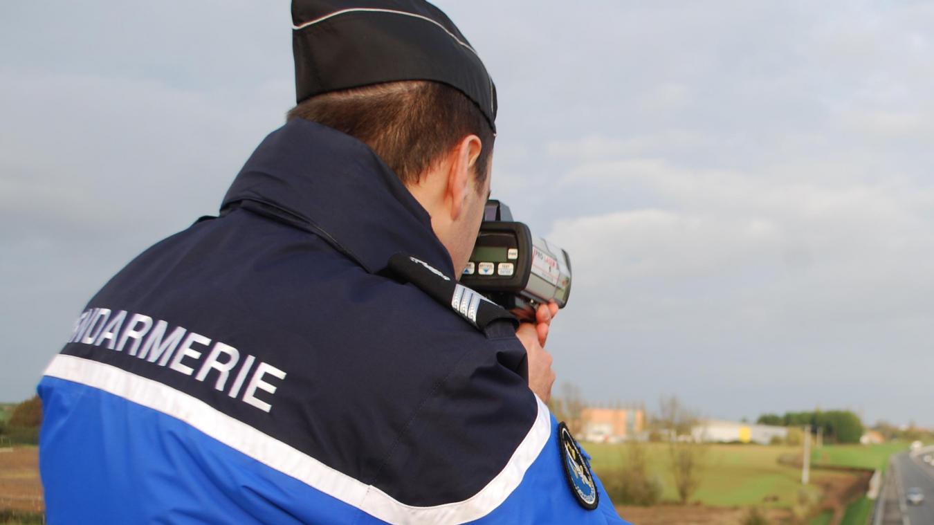 Les gendarmes réalisent des contrôles de vitesse réguliers. (Photo d'illustration)
