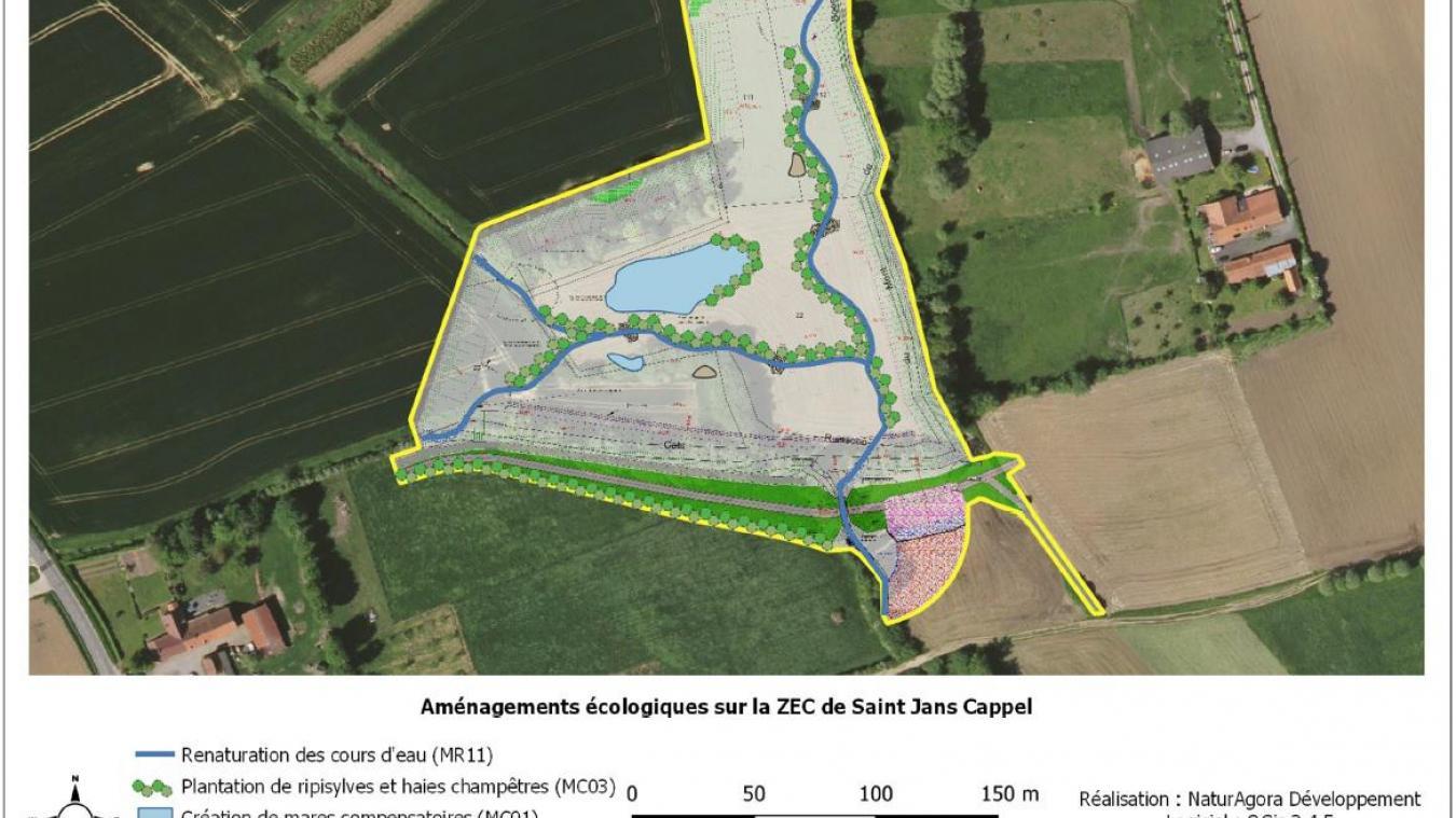Le lieu et l'emprise du projet de ZEC de Saint-Jans/Berthen.