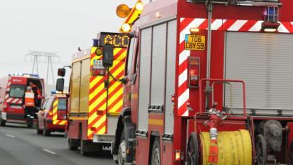 Trois camions et trois voitures impliqués dans un accident sur l'A16