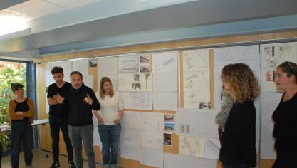 Les architectes de la prestigieuse école de Chaillot visitent l'Hesdinois