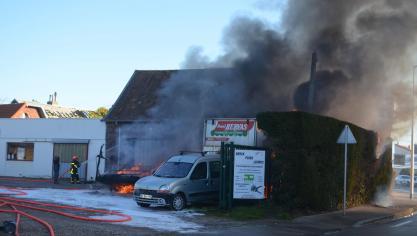 BERCK : un camping-car part en fumée