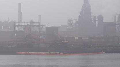 Suspicion de pollution au bassin minéralier du quai d'ArcelorMittal