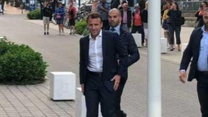 Emmanuel Macron vient d'arriver au Touquet
