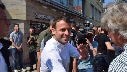 Popularité intacte au Touquet pour Emmanuel Macron (PHOTOS)