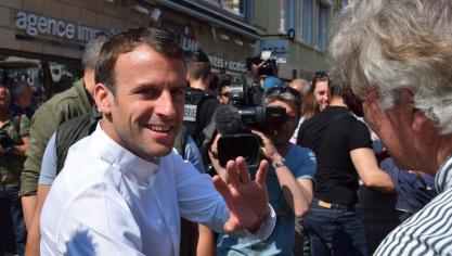 Popularité intacte au Touquet pour Emmanuel Macron
