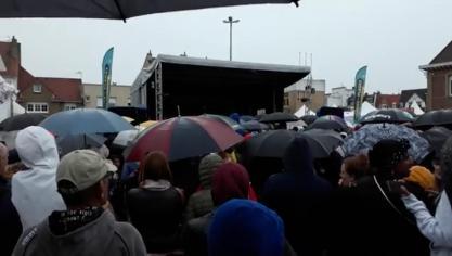 Le concert de Black M perturbé par la pluie