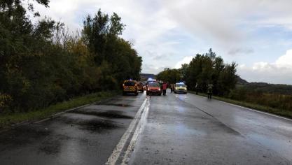 Divion : un homme grièvement blessé dans un accident sur la D301 (vidéo)