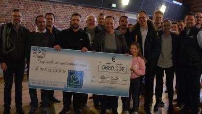 5 660 euros récoltés à Aire-sur-la-Lys pour l'association Neuf de coeur de Jean-Pierre Papin (photos et vidéo)