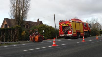 Coudekerque-Village : le feu se propage à la toiture de l'habitation