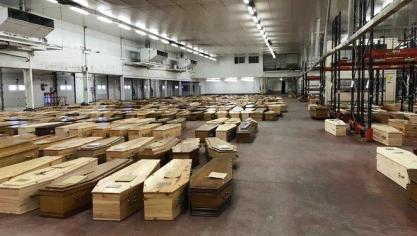 Coronavirus : Mediapart révèle une photo de la morgue temporaire de Rungis