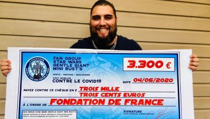 Boulogne-sur-Mer : Gavin récolte 3300 euros pour la lutte contre le Covid 19