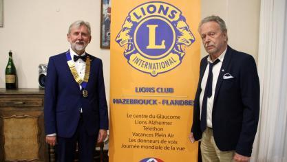 Cassel : Michel Dubar succède à Jean Six à la présidence du Lion's club
