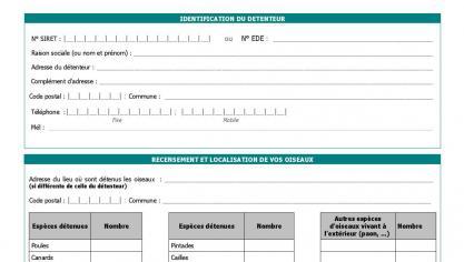 La première partie du formulaire.