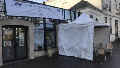 Le centre de vaccination est installé à Espace Flandre.