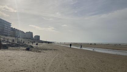 La large plage d'Hardelot était propice au respect de la distanciation sociale.