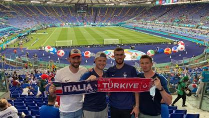 Montreuillois : Kevin, Maxime, Berenger et François présents au stade Olympique de Rome pour le coup d'envoi de l'Euro