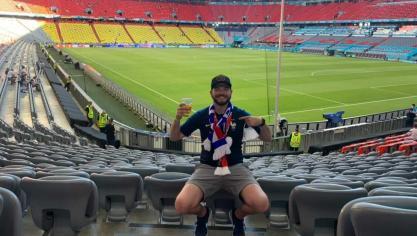 Le Calaisien Florent Boulanger a été l'un des chanceux à pouvoir suivre le match depuis le stade de Munich!