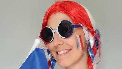 «Vive la France! Allez les bleus», crie Elodie.