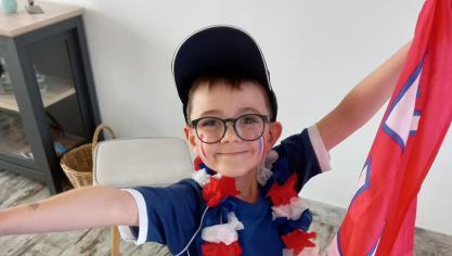 Jules, 5ans et demi de Calais, «fier d'être Français quelque soit le résultat du match».