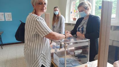 Canton de Liévin : Laurent Duporge et Christelle Delaporte ont fait un détour par les urnes