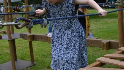 Les enfants ont pu découvrir des ponts suspendus.